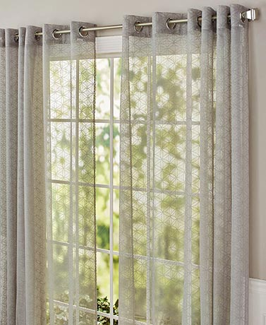 Grommet Top Cathedral Pattern Curtain