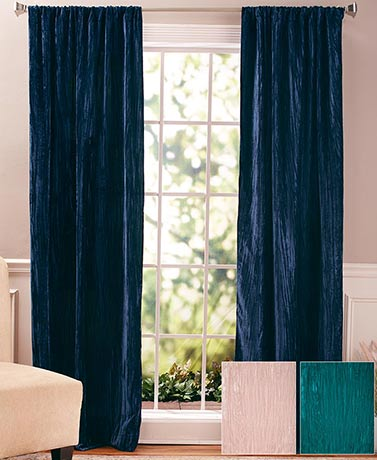 Crushed Velvet Window Panel