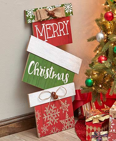 Stacking Presents Holiday Signs