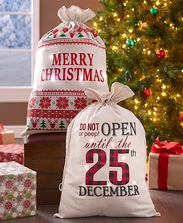 Oversized Lighted Christmas Gift Sacks