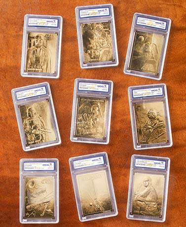 Collectible 23kt Gold Star Wars Cards