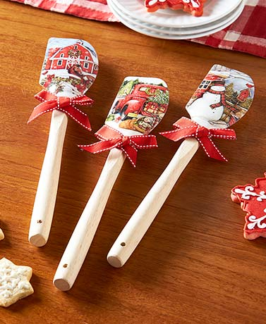 Susan Winget Country Christmas Spatulas