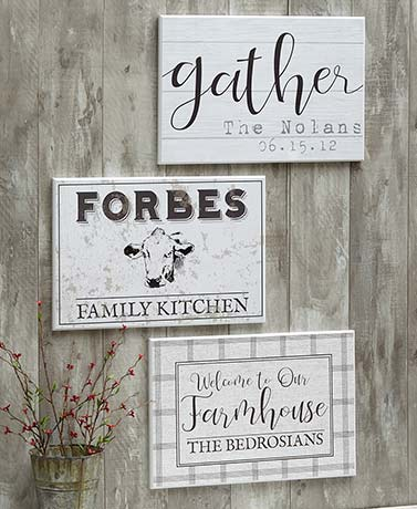 Personalized Farmhouse Plaques