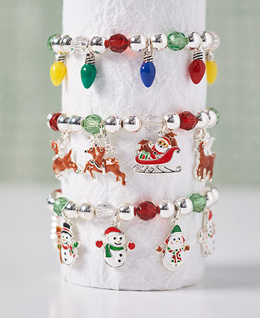 Christmas Charm Stretch Bracelets
