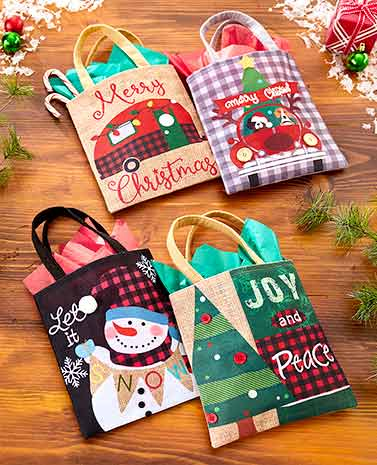Sets of 2 Country Christmas Gift Bags