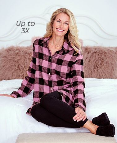 Flannel Tunic and Knit Legging Sets