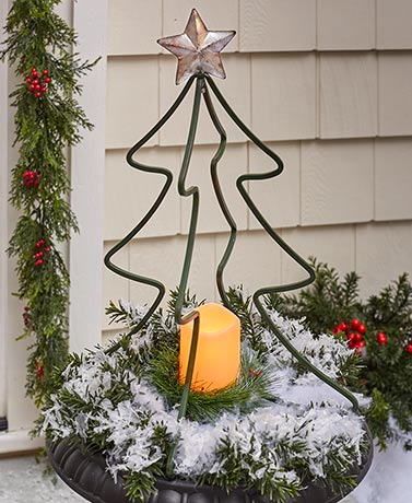 3-Dimensional Lighted Holiday Stakes