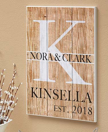 Personalized Couples Monogram Wall Plaques