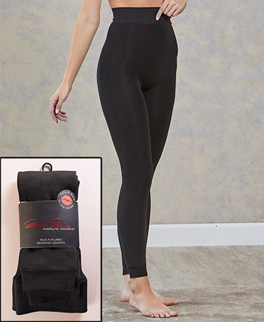 Marilyn Monroe™ Faux Fur-Lined Leggings