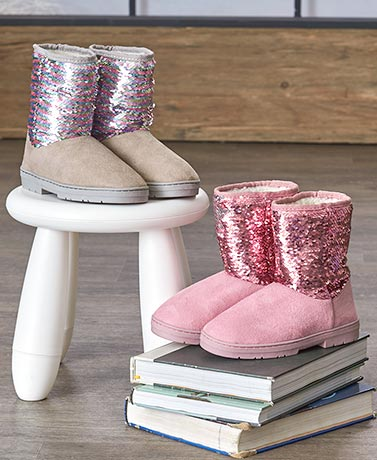 bebe Girls™ Boots with Reversible Sequins