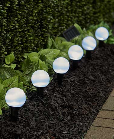 6-Pc. Solar Path Light Sets - White