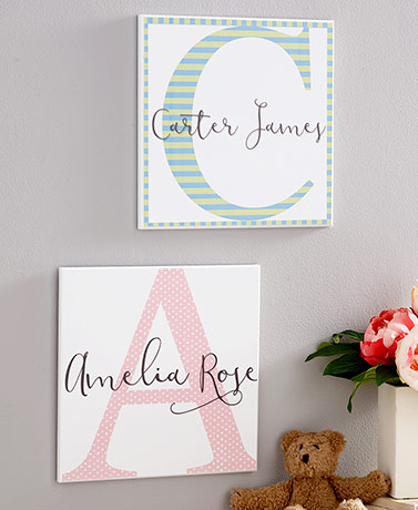 Personalized Baby Name Wall Decor
