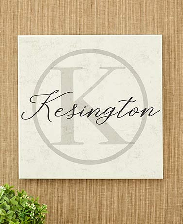 Personalized Circle Monogram Plaques