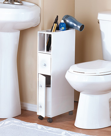Slim Rolling Bathroom Storage Carts
