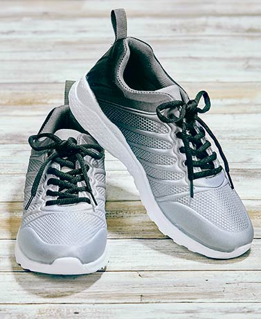 Women's Memory Foam Sneakers - Gray