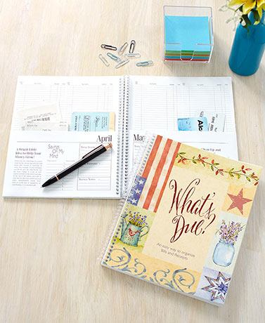 What's Due? Monthly Personal Organizers