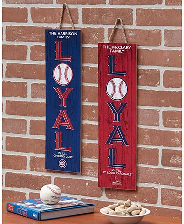 Personalized MLB™ Loyal Family Plaque