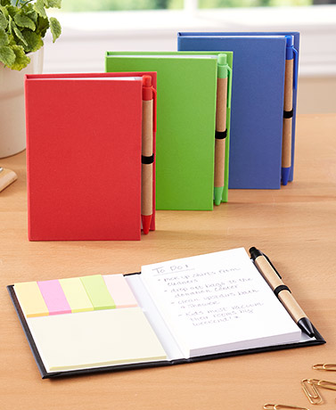 Set of 4 Notepads with Pens