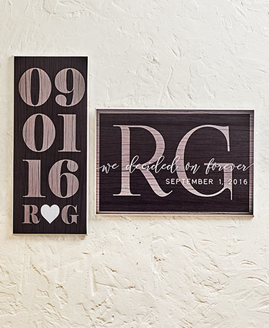 Couples Wedding Date Personalized Plaques