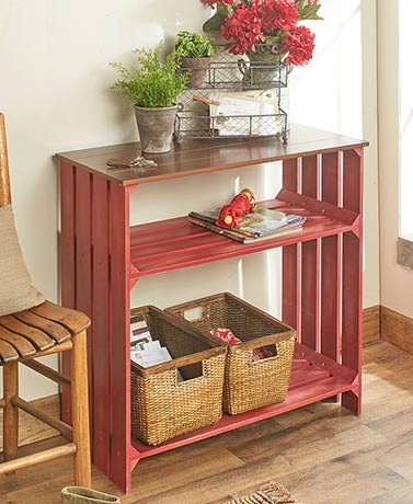 Distressed Crate-Style Storage Console Tables