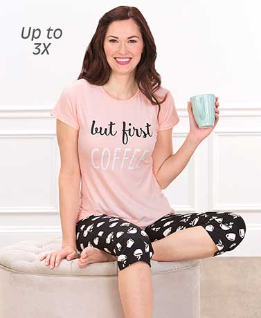 Women's Novelty Saying Capri Pajamas