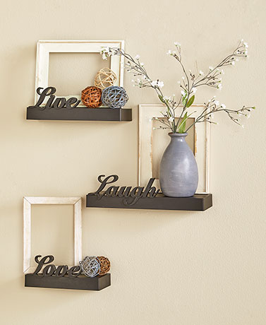 3-Pc. Live Laugh Love Wall Shelf Set