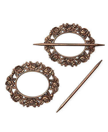 Sets of 2 Curtain Tie-Backs - Bronze