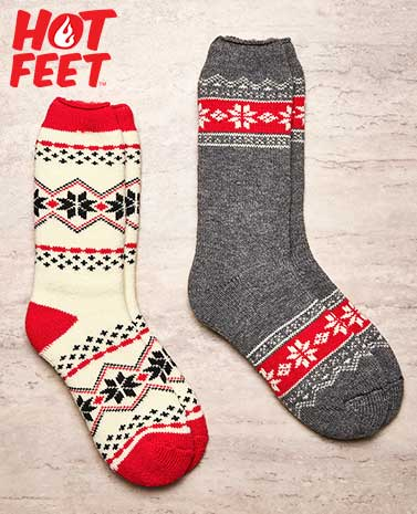 Women's 2-Pair Hot Feet™ Thermal Socks