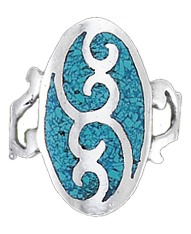 Western Blues Sterling Silver Ring