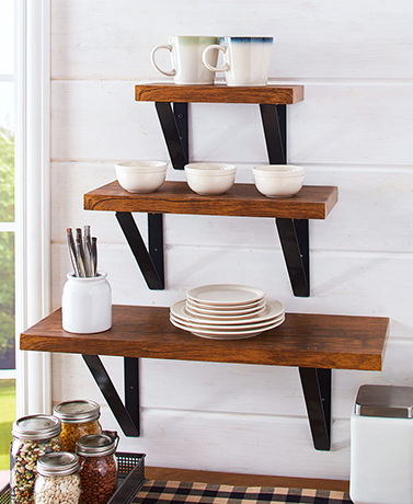 Industrial Farmhouse Floating Shelves