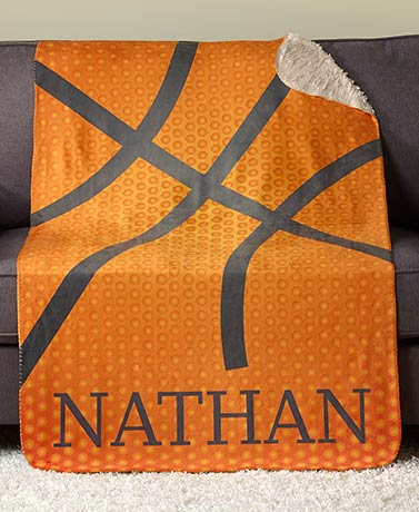 Personalized Sports Basketball! Sherpa Throw