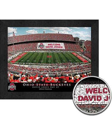 Personalized Collegiate Stadium Framed Prints