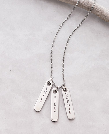 Personalized Name Drop Pendants