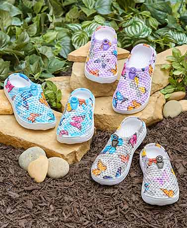 Whimsical Printed Clogs