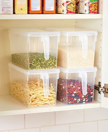 4-Pc. Bulk Storage Handled Bins