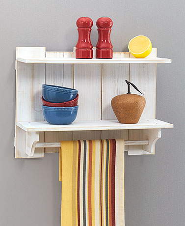 Rustic Wood Pallet Wall Shelves
