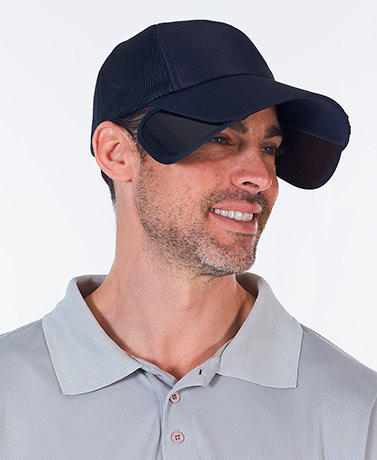 Cap with Convertible Sun Blocking Shield
