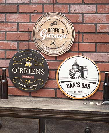 Personalized IndoorOutdoor Man Cave Signs