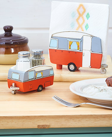 Retro Camper Serving Pieces