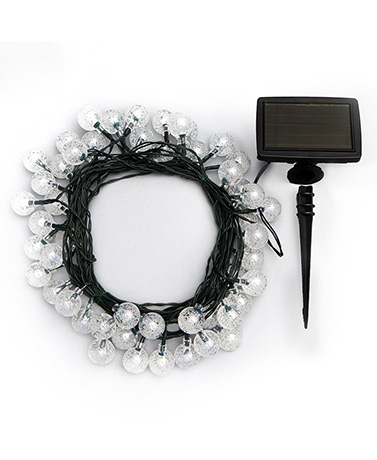50-Bulb Solar String Lights