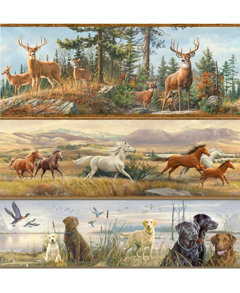 Wildlife Prepasted Wall Borders The Lakeside Collection