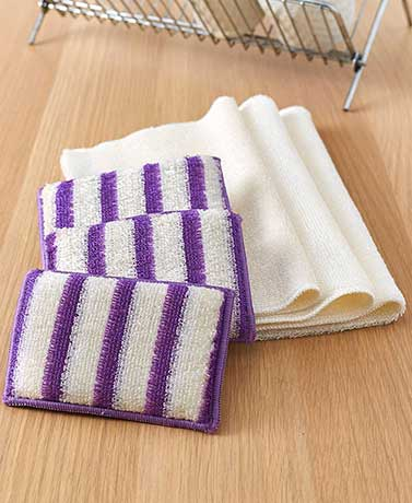 6-Pc. Cleaning Cloth and Scrubber Set