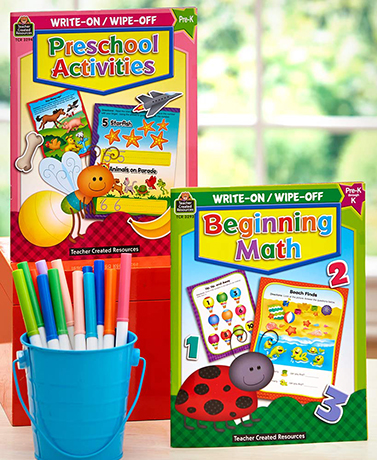 Sets of 2 Write-on Wipe-off Activity Books
