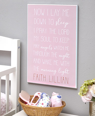 Baby Prayer Personalized Wall Plaques