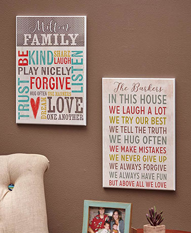 Personalized Family Rules Wall Plaques