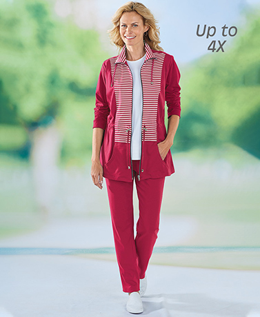 Multi-Stripe Casual Sets