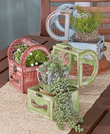 Caged Planters