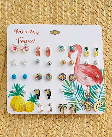 20-Pair Novelty Stud Earring Sets