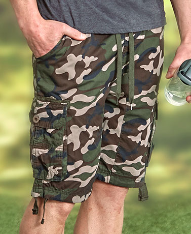 Men's Easy Fit Twill Cargo Shorts