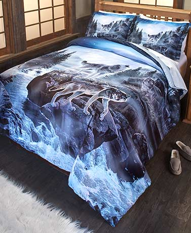 Wolf Pack Comforter or Sham